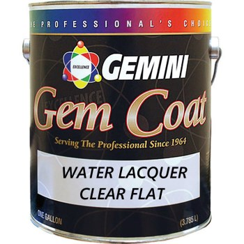 Gemini Gem Coat Water Lacquer,   Clear Flat ~ Gallon