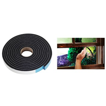 "Marine & Automotive Weatherstrip/Sponge Tape, Black  ~ 1/4"" H x 3/4"" W x 10 Ft L"