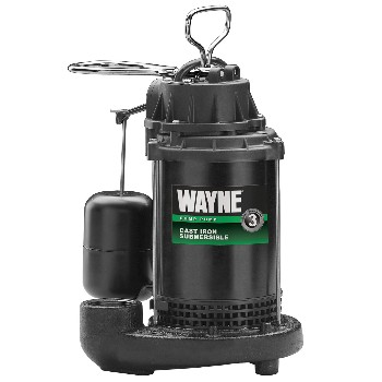 Submersible Cast Iron/Coated Steel Sump Pump ~ 1/3 hp