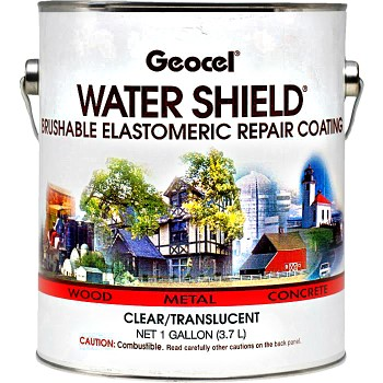 Watershield Brushable Elastomeric Repair Coating, Clear  ~ Gallon