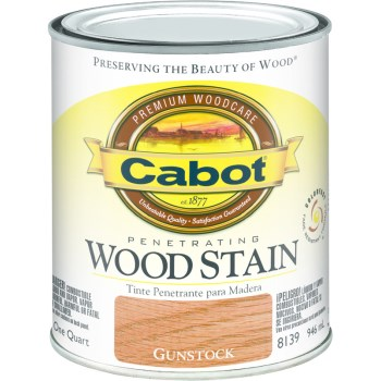Interior Wood Stain,  Gunstock  ~ Quart
