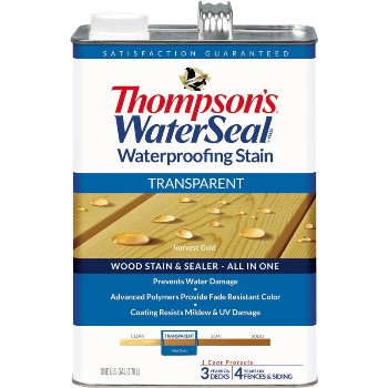Transparent Waterproofing Stain, Harvest Gold ~ Gallon
