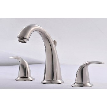Lavatory Faucet, Two Handled ~ Brushed Nickel