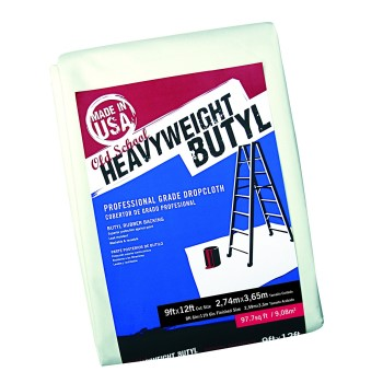 Old School HeavyWeight Butyl Dropcloth ~  9 Ft x  12 Ft