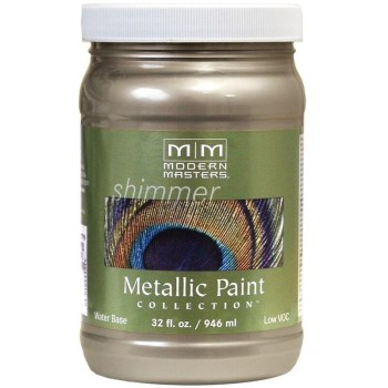 Modern Masters ME708-32 Metallic Paint, Nickel 32 Ounce