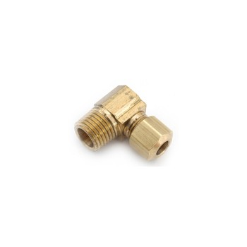 Brass Compression Fitting w/Male Elbow ~ 5/16""