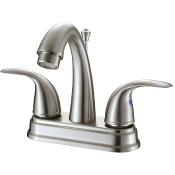 Two Handle Lavatory Faucet Brushed Nickel