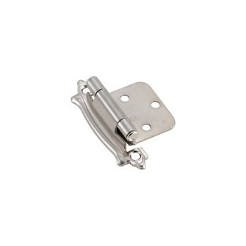 Overlay Hinge - Self Closing - Sterling Nickel Finish