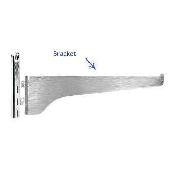 Shelf Bracket, 180 Anochrome Finish 16""