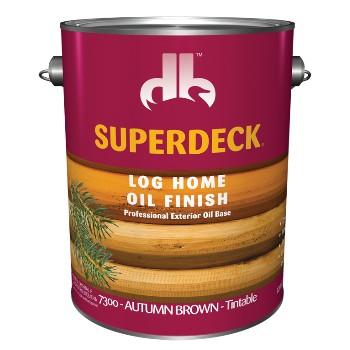 SuperDeck/DuckBack 73004 Log Home Oil Finish, Autumn Brown ~ Gallon