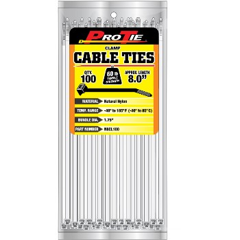 Clamp Cable Ties, 8 in.