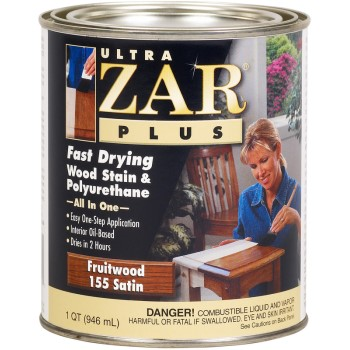ZAR  Ultra Zar Satin Fruitwood Stain, Quart