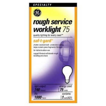 GE 46895 Rough Service Bulb, 75 watt