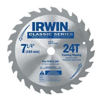 Irwin  7-1/4 24t Atc Saw Blade