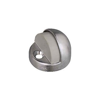 National 215814 Solid brass/Chr Hi-Dome Door Stop,Visual Pack 1940
