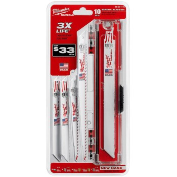 10pc Sawzall Bl Set