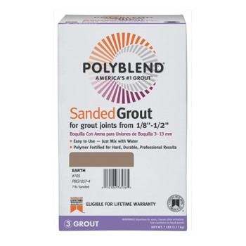 PolyBlend Sanded Grout,  Earth ~ 7 Lbs