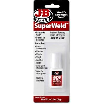 J-B Weld 33106 SuperWeld Hight Strength Super Glue ~ 0.20 oz (6 g)