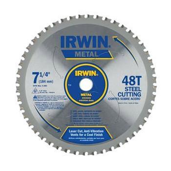 """Irwin 4935555 Ferrous Steel Blade ~ 7.25"""" 48T"""