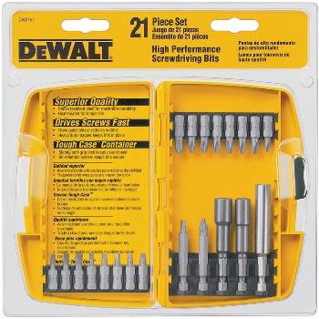 DeWalt DW2161 Screwdriving Set, 21 pieces