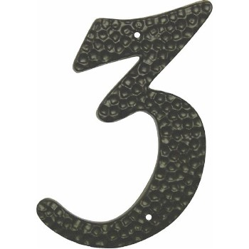 Black House Number - # Three  - 3 1/2""