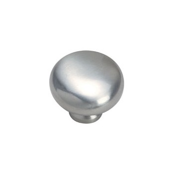 "Smooth Cabinet Knob, 1.25"" ~ Satin Nickel Finish"