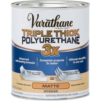 Buy The Rust Oleum 304588 Varathane Triple Thick Polyurethane Matte Finish Quart Hardware World