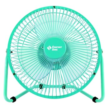 Comfort Zone High Velocity Desk Fan, Dual Power  ~ 8""