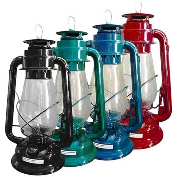 Glow-Bright Hurricane Lantern, Random Colors ~ 12""