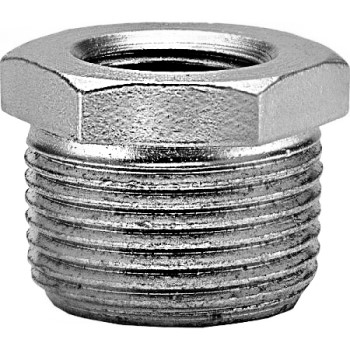Hex Bushing - Galvanized Steel - 3/4 x 1/4 inch