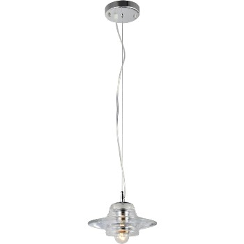 Hardware House 210782 Clear Saucer Pendant Light Fixture