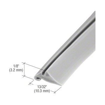 PrimeLine/SlideCo P7768 Glass Glazing Spline, Gray ~ 200 Ft