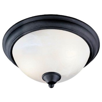 Ceiling Light Fixture, 2 Light Tuscany Design ~ Black