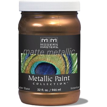 Matte Metallic Paint ~ Statuary Bronze, Quart