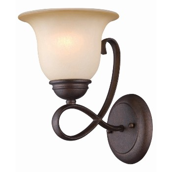 Wall Light, 1 Light ~ Antique Bronze