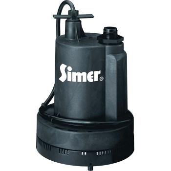 Flotec/Simer/Pentair 2305 Geyser Submersible Utility Pump - 1/4 HP