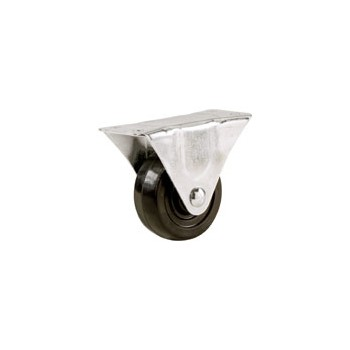 Rigid Caster - Rubber Wheel - 2""