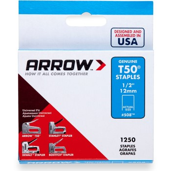 Staples, T50 Arrow Staple ~ 1/2""