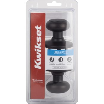 Kwikset 93001-868 Cove Design Privacy Lockset,  Venetian Bronze