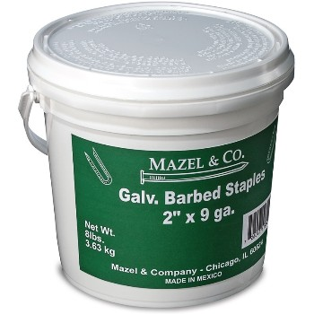 Galvanized Barbed Fence Staples ~ 2""