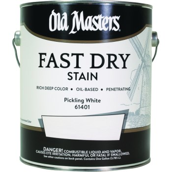 Fast Dry Wood Stain, Pickling White ~ Gallon