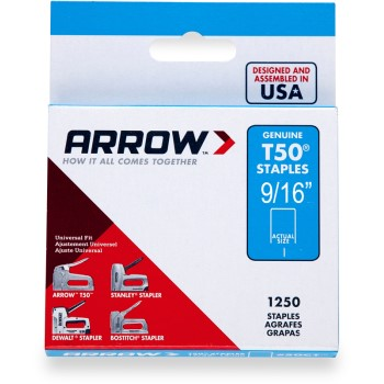 Staples - T50 Arrow Staple - 9/16 inch