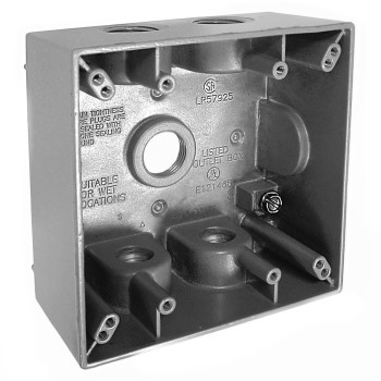 Weather Proof Box, Double Gang Gray