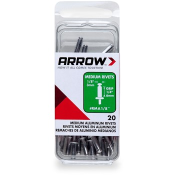 Rivets - Medium Aluminum - 1/8 inch