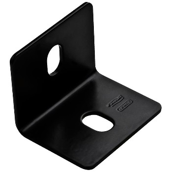 "Square Corner Braces, Black ~ 2.4"" x 3"" x 1/8"""