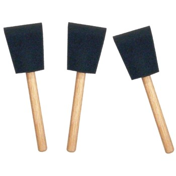 Foam Brushes, Poly 3 Pack ~ 2""