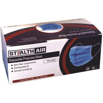Stealth Air  Disposable Masks  ~  50 Pack