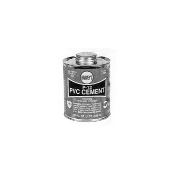 PVC Cement, P-12 Heavy Body 8 Ounce