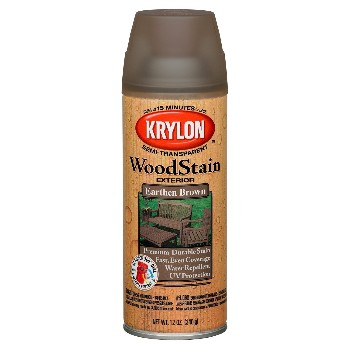 Exterior Wood Stain Spray, Earthen Brown ~ 12 oz.