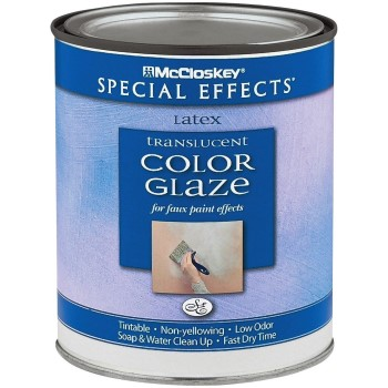 McCloskey Special Effects Latex Translucent Color Glaze, Clear  ~ Quart